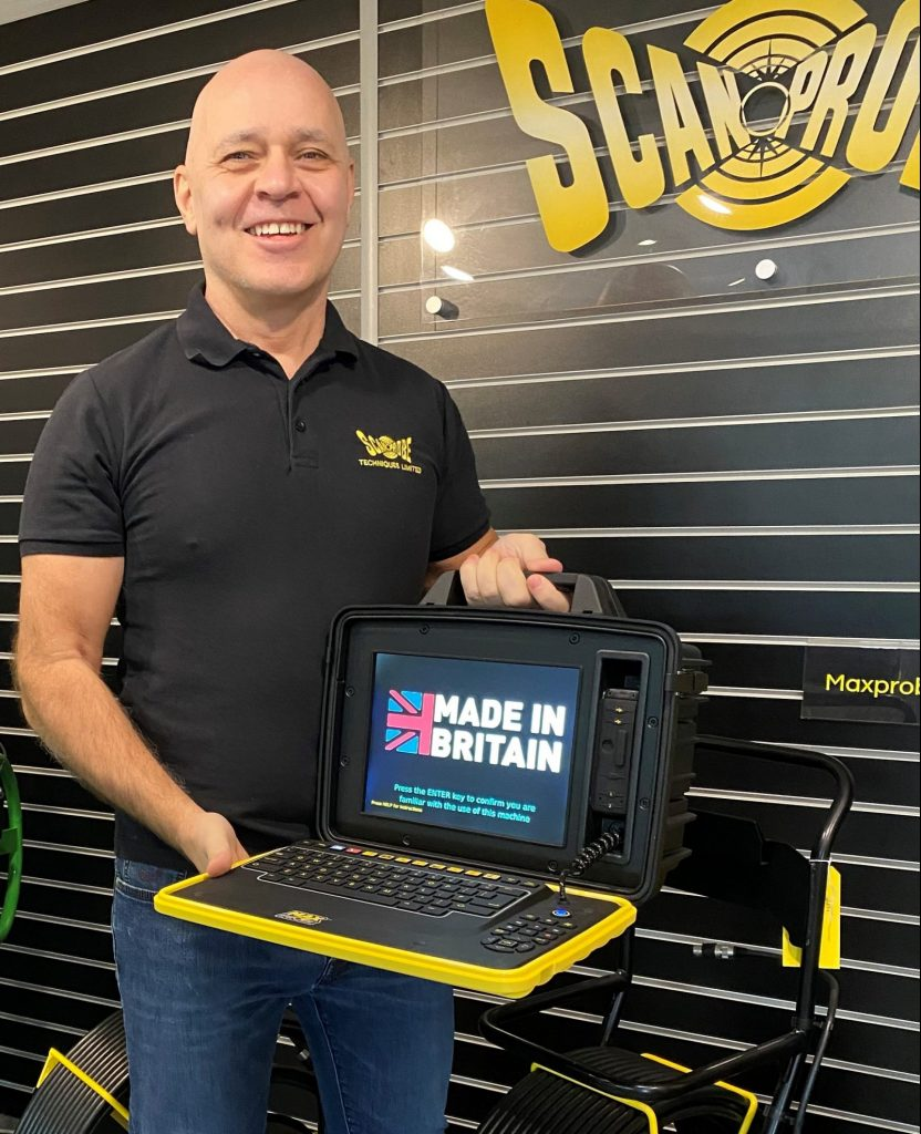 Director Jon Barry and the Made In Britain Maxprobe box
